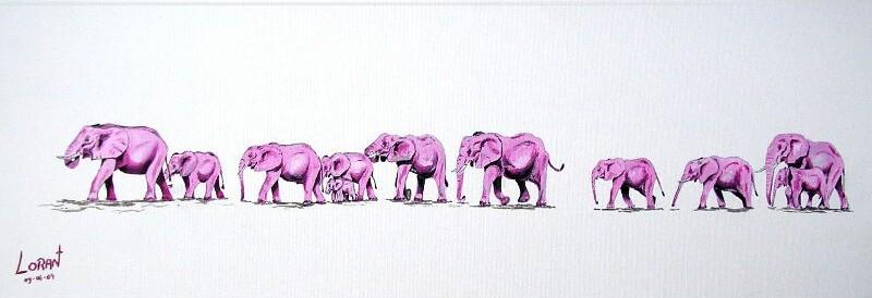 Afrique - Dessin elephant rigolo ...